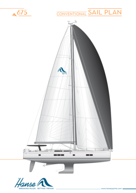 Hanse 675 Segelplan | konventioneller Segelplan | Hanse
