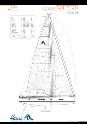 Hanse 675 Segelplan | technischer Segelplan (Standard) | Hanse