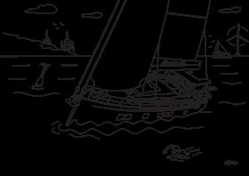 Hanse 675 Ausmalbild für Kinder | Hanse