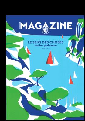 Air France Magazine / August 2018: Hanse 675 Bericht (FR) | Loft-Geist. Das Aushängeschild der deutschen Werft Hanse, die 675, hisst das Segel einer Yacht mit einem zeitgemäßen und luftigen Look. | Hanse