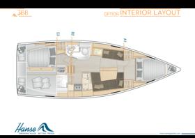 Hanse 388 Interior Layout | A1 / B2 / C3 - Option | Hanse