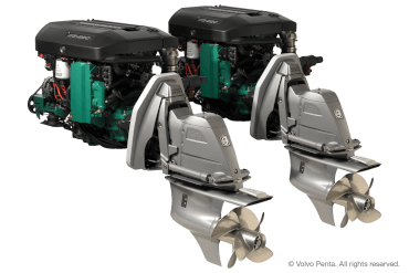 2 Volvo Penta D3-220 (220 hp), Duoprop stern drive with electric steering with propeller IH4