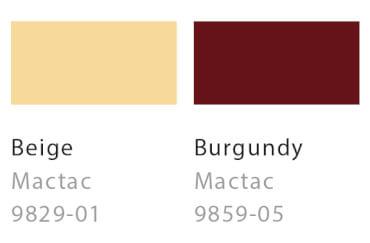 Beige / Burgundy
