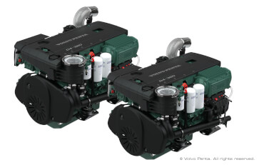 2 VOLVO PENTA D4-320 (320 hp/235 kW), stern drive with propeller G6