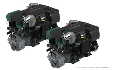 2 VOLVO PENTA D4-270 (270 hp/199 kW), stern drive with propeller G6