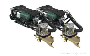 2 Volvo Penta IPS500 (D6 380 hp/280 kW) with propeller T6
