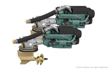 2 Volvo Penta IPS700 (550 hp) with propeller N4