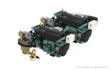 2 Volvo Penta IPS800 (600 hp) with propeller N4