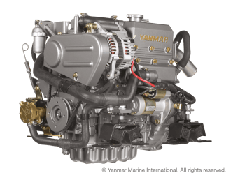 Engine (Diesel, approx. 21 hp) - saildrive, 2 blade folding propeller