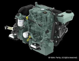 Engine (Diesel, approx. 39 hp) - saildrive, 2 blade folding propeller