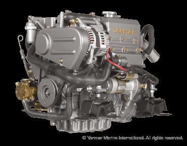 Engine (Diesel, approx. 21 hp) - saildrive, 2-blade folding propeller