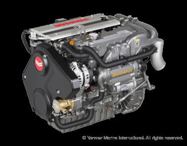 Engine (Diesel, approx. 57 hp) - saildrive, 3-blade folding propeller