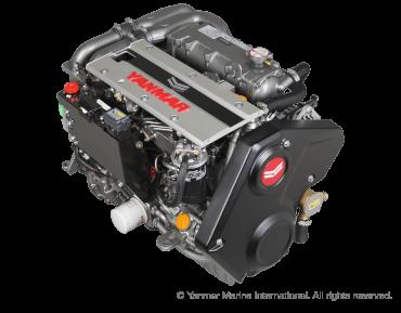 Engine (Diesel, approx. 80 hp) - saildrive, 3-blade folding propeller