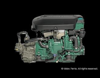 Engine (Diesel, approx. 110 hp) - shaft drive, 3-blade folding propeller