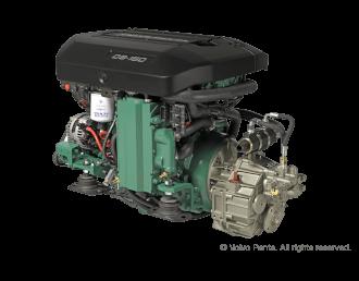 Engine (Diesel, approx. 150 hp) - shaft drive, 4-blade folding propeller