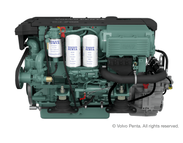 Engine (Diesel, approx. 218 hp) - shaft drive, 4-blade folding propeller