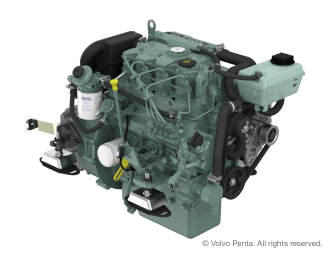 Engine (Diesel, approx. 38 hp) - saildrive, 3-blade folding propeller