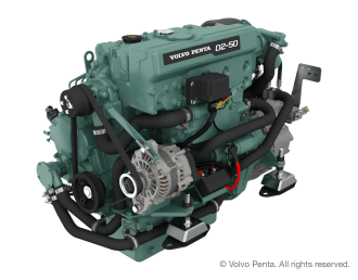 Engine (Diesel, approx. 55 hp) - saildrive, 3-blade folding propeller
