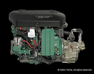 Engine (Diesel, approx. 107 hp) - shaft drive, 3-blade folding propeller