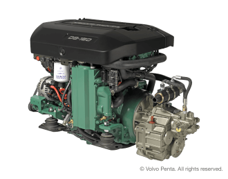 Engine (Diesel, approx. 146 hp) - shaft drive, propeller 4 blade, folding