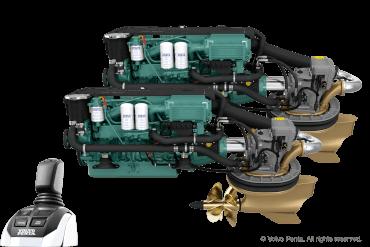 2 Volvo Penta IPS500 (380 hp) - Pod drive with propeller T4