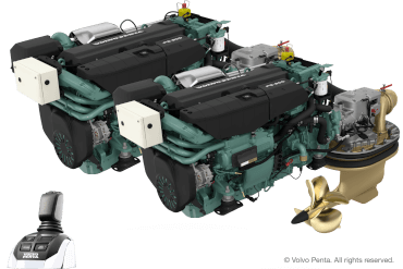 2 Volvo Penta IPS600 (440 hp) - Pod drive including joystick control with propeller T4