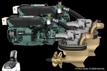 2 Volvo Penta IPS800 - Pod drive including joystick control with propeller N4