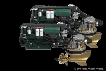 2 Volvo Penta IPS450 (340 hp) - Pod drive with propeller T4
