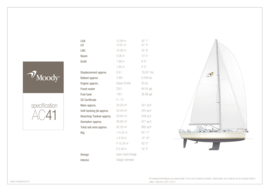 Moody Aft Cockpit 41 | Standard Specification | Moody