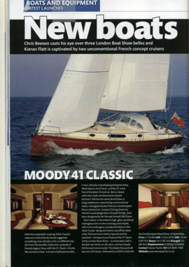 Moody Aft Cockpit 41: Review - Yachting Monthly | With the oulandish-looking DS45, Hanse's relaunch of the Moody brand suggested something of an identity crisis, so different was she from the sensible, buttoned-up boats of Moody legacy. Now, with the 41 Classic, it looks like we have a clear-cut case of split personality. | Moody