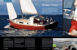 Moody Aft Cockpit 41: Testbericht - marina.ch Dezember 08 / Januar 09 | Als HanseYachts die englische Traditionsmarke Moody übernahm, war man gespannt auf die neue Ausrichtung. Die im Frühling präsentierte «Moody DS45» lieferte eine erste Kostprobe: neues Konzept, gewagtes Aussehen. Im Gegensatz dazu ist die soeben lancierte «Moody Classic 41» eine klassische Schönheit. | Moody