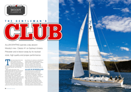 Moody Aft Cockpit 41: Test Review -  tradeaboat | The Gentleman's Club. Allan Whiting spends a day aboard Moody's new Classic 41 on Sydney's breezy Pittwater and is blown away by its nautical style, high quality and proper performance | Moody