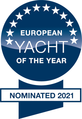 European Yacht of the Year 2021 - nominated | Category Luxury Cruiser - nominated | Moody