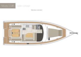 Moody Decksaloon 41 Disposition | concept de cabine pont principal C1 | Moody