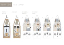 Moody Decksaloon 41 Concept de la cabine | Moody