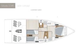 Moody Decksaloon 41 Disposition | cabine du pont inférieur A1-B4 Option | Moody