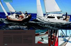 Moody Decksaloon 45: Test - marina.ch Mai 2009 | Moody Yachten galten mit ihrem Design bisher eher als konservativ. Das hat sich nach der Übernahme durch die deutsche HanseYachts AG geändert. In der 45-Fuss-Klasse gibt es gleich zwei neue Modelle – und die polarisieren wie nie zuvor. | Moody