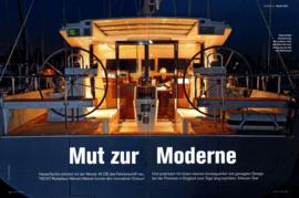 Moody Decksaloon 45: Testbericht - Yacht 8/2008 | HanseYachts erfindet mit der Moody DS45 das Fahrtenschiff neu. Und polarisiert mit einem ebenso konsequenten wie gewagten Design. YACHT-Redakteur Meinert Matzek konnte den innovativen Entwurf bei der Premiere in England zwei Tage lang erproben. | Moody