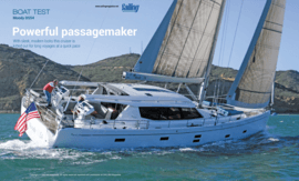 Moody Decksaloon 54: Test Review - Sailing Magazine US 01/2017 | Powerful passagemaker - With sleek, modern looks this cruiser is kitted out for long voyages at a quick pace. | Moody