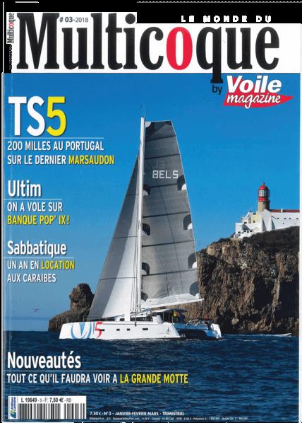 Le Monde du Multicoque N°3 2018 | 真正的游泳平台... 驾驶舱在移动便利性方面同样令人惊讶,令人印象深刻的后甲板可以让你毫无阻碍地从一侧移动到另一侧。在中间,一个雄伟的液压平台支撑着小艇--500公斤的有效载荷。在降低的位置,它提供了一个专门用于水上活动的大表面 | Privilège