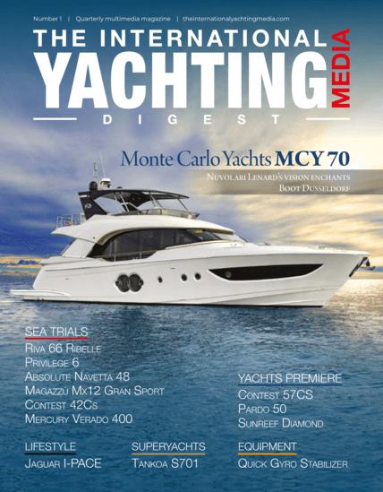 国际游艇媒体摘要N°1 2019年3月 | 乘坐Privilège Serie 6号船从帕尔马到巴塞罗那。长达130英里的海试。 | Privilège