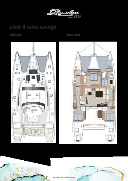 Privilège Serie 740 | Deck & cabin concept | Privilège
