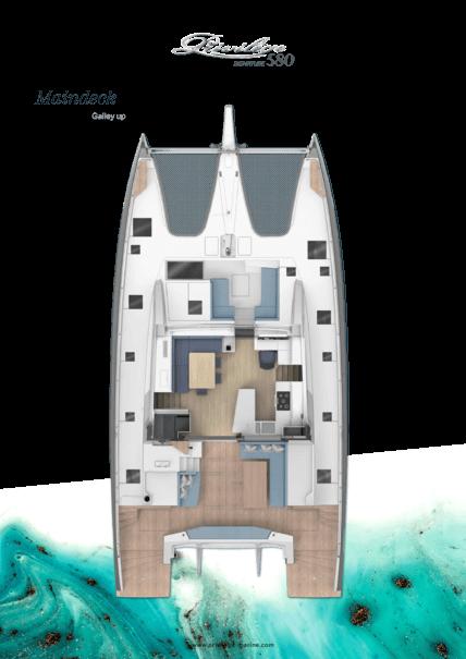 Privilège Signature 580 | Main deck layout - Galley up | Privilège