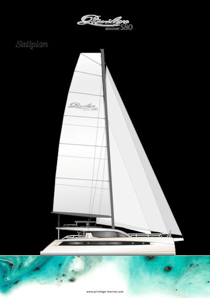Privilège Signature 580 | Sail plan | Privilège