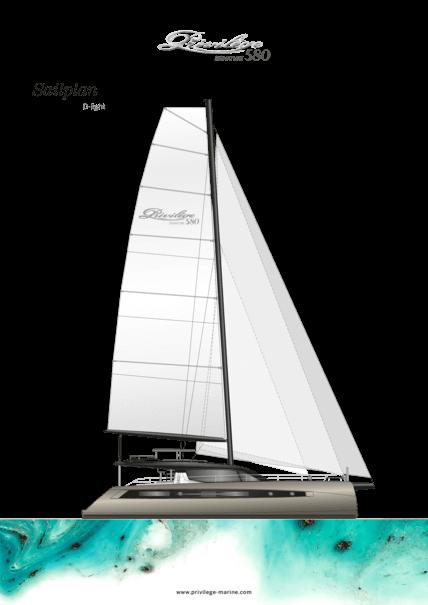 Privilège Signature 580 D-Light | Sail plan | Privilège