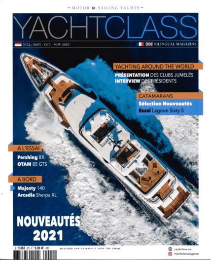 Privilège Signature 580 Review YachtClass N°22 10-11/20 | Le chantier Privilège, desormais intégré au groupe allemand HanseYachts AG, continue le renouvellement de ses catamarans de croisière avec le lancement du Signature 580, sur les traces du Signature 510. | Privilège