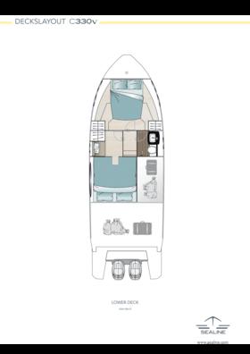 Sealine C330v Lower deck - Standard