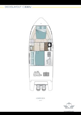 Sealine C330v Lower deck - Option