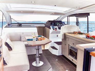 Sealine C330v saloon   The C330v's interior brings elegance, luxury and volume into perfect balance.   Sealine