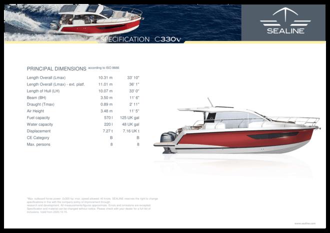 Sealine C330v   Standard Specification   Sealine